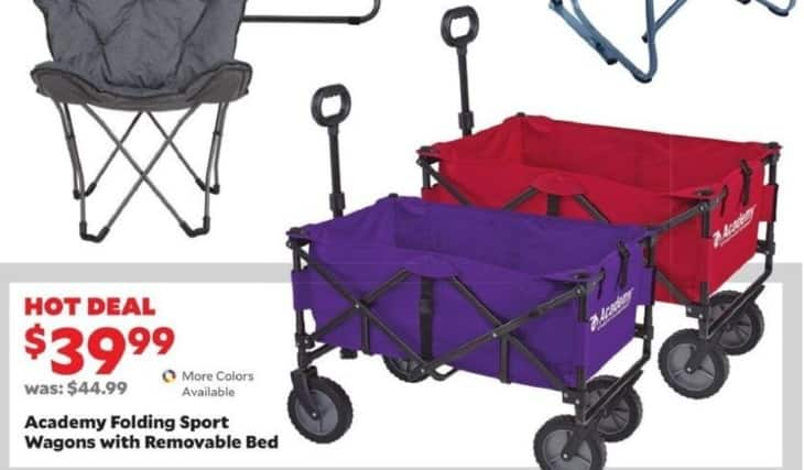 Academy Sports + Outdoors Black Friday: Academy Folding Sport Wagons w/Removable Bed for $39.99