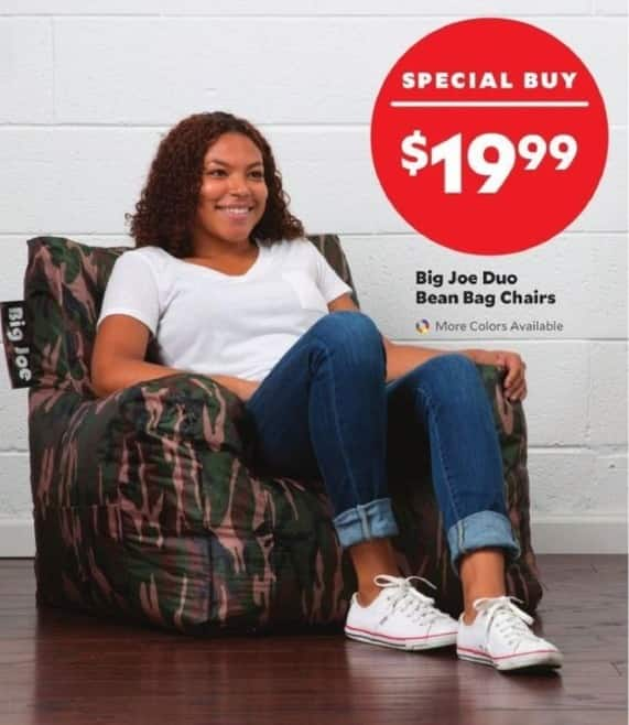 Academy Sports + Outdoors Black Friday: Big Joe Duo Bean Bag Chairs For  $19.99