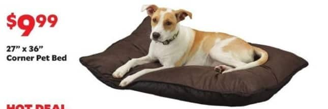 """Academy Sports + Outdoors Black Friday: 27"""" x 36"""" Corner Pet Bed for $9.99"""