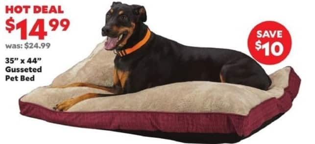 "Academy Sports + Outdoors Black Friday: 35"" x 44"" Gusseted Pet Bed for $14.99"