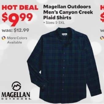 Academy Sports + Outdoors Black Friday: Magellan Outdoors Men's Canyon Creek Plaid Shirts for $9.99