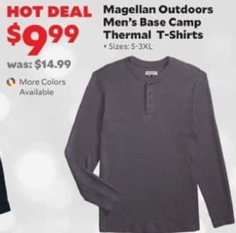 Academy Sports + Outdoors Black Friday: Magellan Outdoors Men's Base Camp Thermal T-Shirts for $9.99