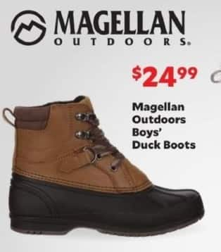 Academy Sports + Outdoors Black Friday: Magellan Outdoors Boys' Duck Boots for $24.99