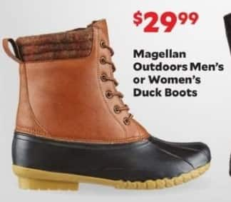 Academy Sports + Outdoors Black Friday: Magellan Outdoors Men's or Women's Duck Boots for $29.99