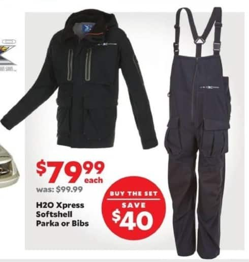Academy Sports + Outdoors Black Friday: H20 Express Softshell Bibs for $79.99