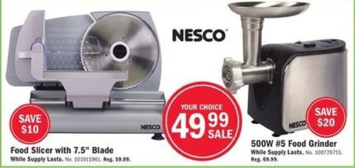 "Mills Fleet Farm Black Friday: Nesco Food Slicer w/7.5"" Blade for $49.99"