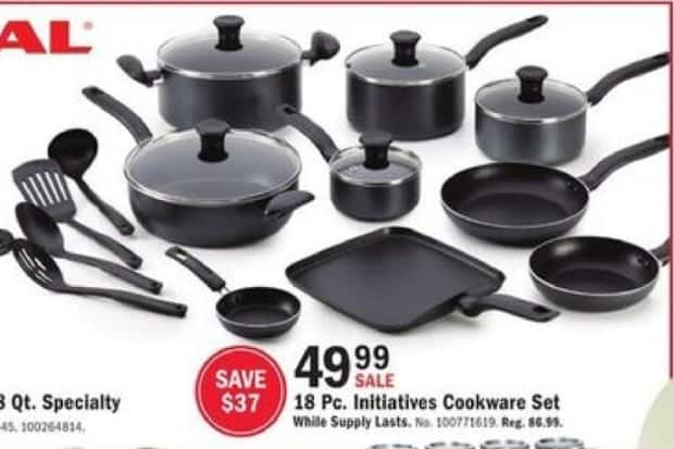 Mills Fleet Farm Black Friday: T-Fal 18 Piece Initiatives Cookware Set for $49.99