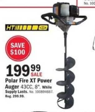 "Mills Fleet Farm Black Friday: 8"" Polar Fire XT Power Auger for $199.99"