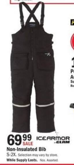 Mills Fleet Farm Black Friday: Icearmor Clam Non-Insulated Bib for $69.99