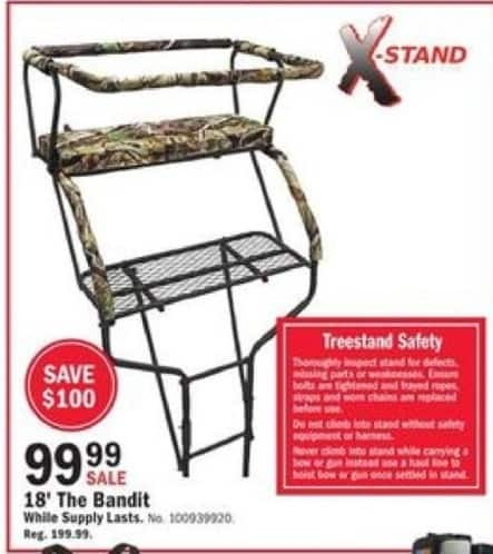 Mills Fleet Farm Black Friday: X-Stand 18' The Bandit for $99.99