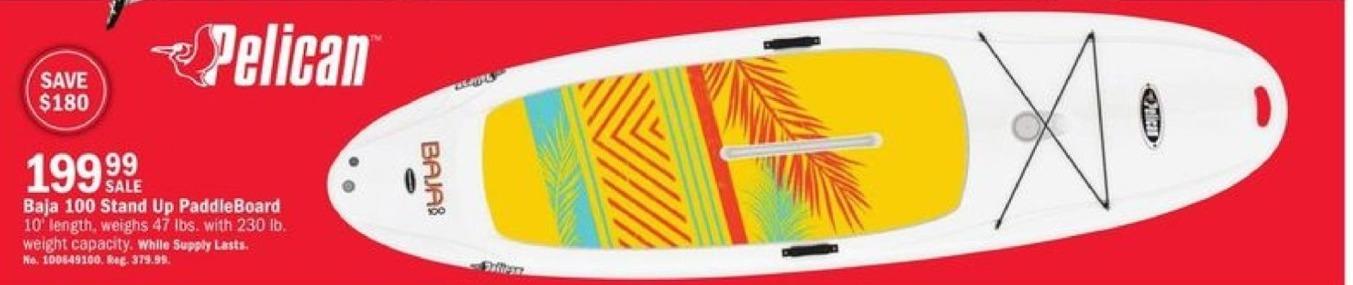 Mills Fleet Farm Black Friday: Pelican Baja 100 Stand Up PaddleBoard for $199.99