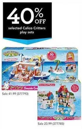 Toys R Us Black Friday: Select Calico Critters - 40% Off