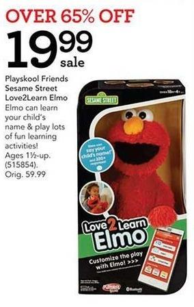 Toys R Us Black Friday: Playskool Friends Sesame Street Love2Learn Elmo for $19.99