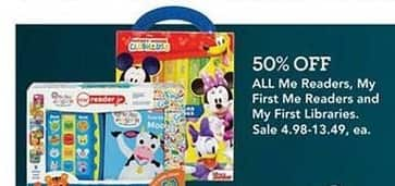 Toys R Us Black Friday: Entire Stock Me Readers, My First Me Readers and My First Libraries for $4.98 - $13.49