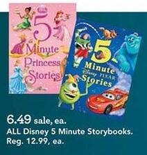 Toys R Us Black Friday: Entire Stock Disney 5 Minute Storybooks for $6.49