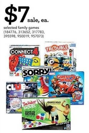 Toys R Us Black Friday: Select Family Games: Connect 4, Twister, Sorry! and More for $7.00