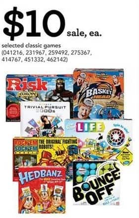 Toys R Us Black Friday Select Classic Board Games Life Risk And