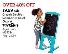 Toys R Us Black Friday: Crayola Double-Sided Artist Easel for $19.99