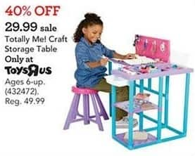Toys R Us Black Friday: Totally Me! Craft Storage Table for $29.99