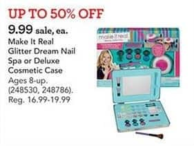 Toys R Us Black Friday: Make It Real Glitter Dream Nail Spa or Deluxe Cosmetic Case for $9.99