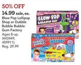 Toys R Us Black Friday: Blow Pop Lollipop Show or Double Bubble Bubble Gum Factory for $14.99