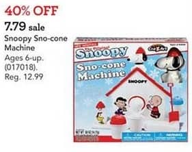 Toys R Us Black Friday: Snoopy Sno-cone Machine for $7.79