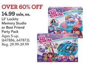Toys R Us Black Friday: Lil' Lockitz Memory Studio or Best Friend Party Pack for $14.99