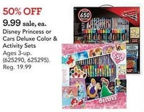 Toys R Us Black Friday: Disney Princess or Cars Deluxe Color & Activity Sets for $9.99