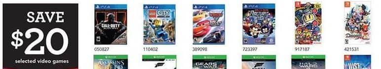 Toys R Us Black Friday: Select Video Games: Call of Duty, Lego City, Disney Cars and More - $20 Off