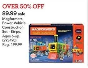 Toys R Us Black Friday: Magformers Power Vehicle Construction Set 86-Piece for $89.99