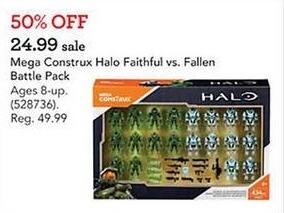 Toys R Us Black Friday: Mega Construx Halo Faithful vs. Fallen for $24.99