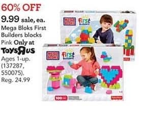 Toys R Us Black Friday: Mega Bloks First Builders Blocks for $9.99