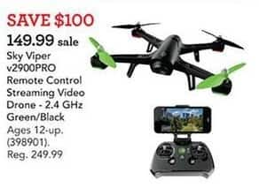Toys R Us Black Friday: Sky Viper 2.4GHz v2900PRO Remote Control Streaming Video Drone for $149.99