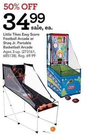 Toys R Us Black Friday: Little Tikes Easy Score Football Arcade or Shaq Jr. Portable Arcade for $34.99