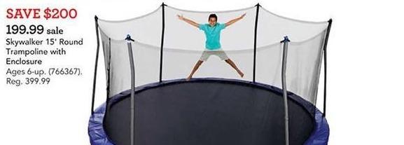 Toys R Us Black Friday: Skywalker 15' Round Trampoline w/Enclosure for $199.99