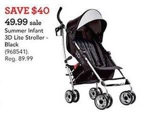 Toys R Us Black Friday: Summer Infant 3D Lite Stroller for $49.99