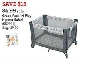 Toys R Us Black Friday: Graco Pack N Play Hipster Safari for $34.99