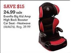 Toys R Us Black Friday: Evenflo Big Kid Amp High Back Booster Car Seat for $24.99