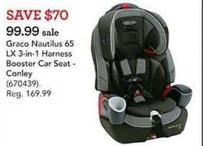 Toys R Us Black Friday: Graco Nautilus 65 LX 3-in-1 Harness Booster Car Seat for $99.99