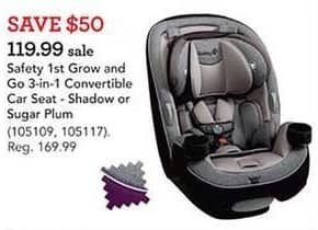 Toys R Us Black Friday: Safety 1st Grow and Go 3-in1 Convertible Car Seat for $119.99