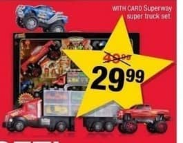 CVS Black Friday: Superway Super Truck Set w/Card for $29.99
