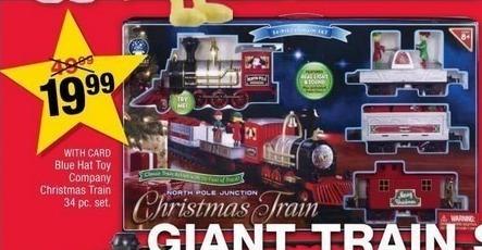 CVS Black Friday: 34 Piece Blue Hat Toy Company Christmas Train w/Card for $19.99
