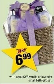CVS Black Friday: CVS Vanilla or Lavender Small Bath Gift Set w?Card for $6.99