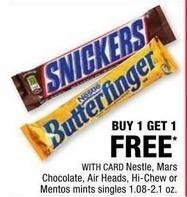 CVS Black Friday: Nestle, Mars, Air Heads, Hi-Chew or Mentos w/Card - B1G1 Free