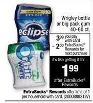 CVS Black Friday: Wrigley Bottle or Big Gum Pack + $2 ECB w/Card for $3.99
