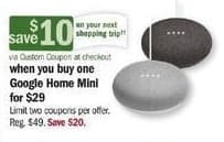 Meijer Black Friday: Google Home Mini + $10 Custom Coupon for $29.00