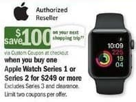 Meijer Black Friday: Apple Watch Series 1 or 2 + $100 Custom Coupon for $249.00