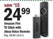 Meijer Black Friday: Amazon Fire TV Stick w/Alexa Voice Remote for $24.99