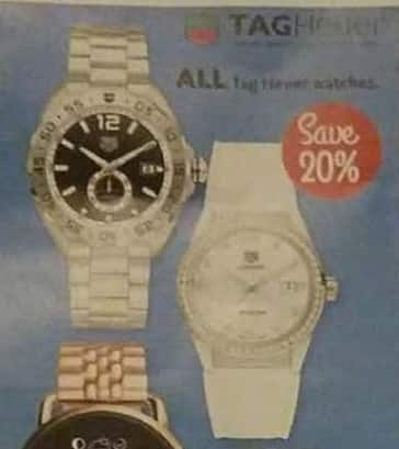 AAFES Cyber Monday: Entire Stock Tag Heuer Watches - 20% Off