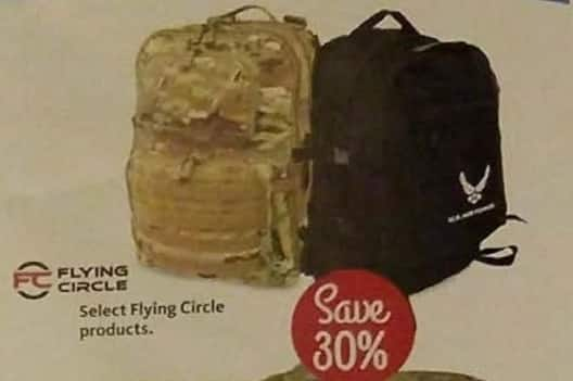 AAFES Cyber Monday: Select Flying Circle Products - 30% Off
